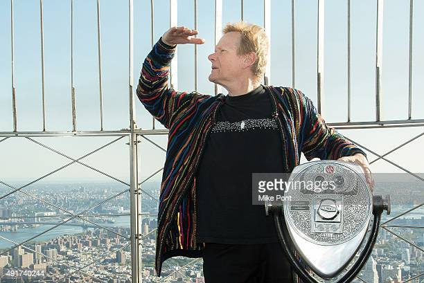 Highwire artist Philippe Petit visits the Empire State Building on October 7 2015 in New York City Highwire artist Philippe Petit