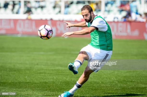Higuain Gonzalo during the Italian Serie A football match Pescara vs Juventus on April 15 in Pescara Italy