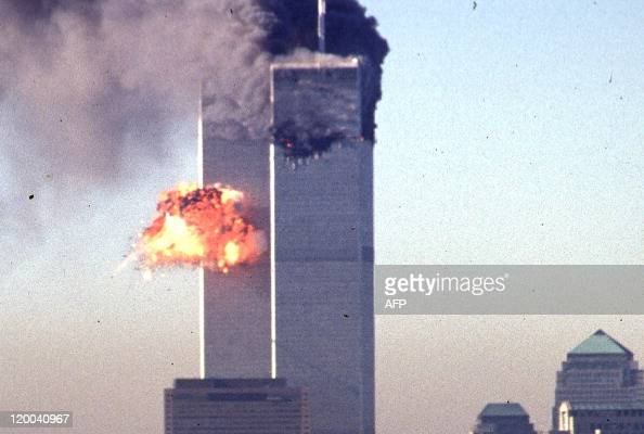A hijacked commercial plane crashes into the World Trade Center 11 September 2001 in New York The landmark skyscrapers were destroyed in the attack...