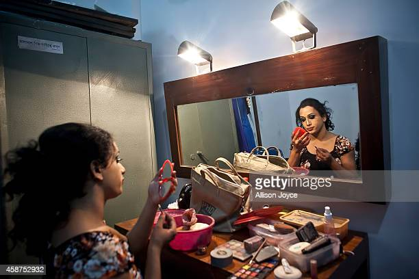 Hijra or transgender gets ready backstage before the Hijra talent show part of the first ever event called Hijra Pride 2014 on November 10 2014 in...