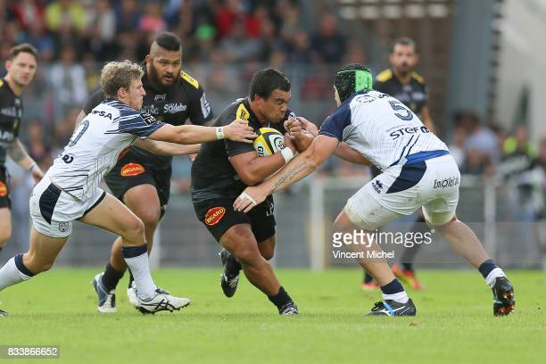 Hikairo Forbes of La Rochelle during the preseason match between Stade Rochelais and SU Agen on August 17 2017 in La Rochelle France