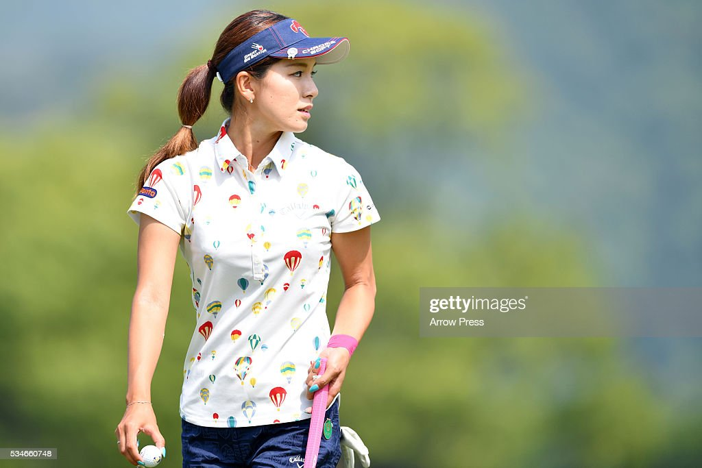 <a gi-track='captionPersonalityLinkClicked' href=/galleries/search?phrase=Hikari+Fujita&family=editorial&specificpeople=12777159 ng-click='$event.stopPropagation()'>Hikari Fujita</a> of Japan looks on during the first round of the Resorttrust Ladies at the Grandee Naruto Golf Club XIV on May 27, 2016 in Naruto, Japan.
