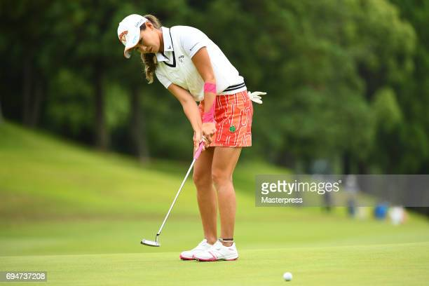 Hikari Fujita of Japan putts during the final round of the Suntory Ladies Open at the Rokko Kokusai Golf Club on June 11 2017 in Kobe Japan