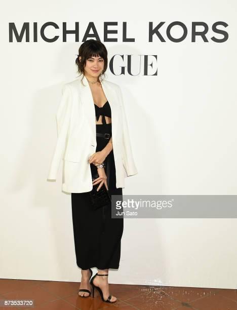 Hikari Mori attends the Michael Kors Watch Hunger Stop Charity Gala Dinner at Riva Degli Etruschi on November 13 2017 in Tokyo Japan
