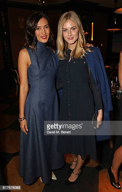 Hikari Yokoyama and Donna Air attend a private dinner hosted by Hikari Yokoyama to celebrate the Harper's Bazaar charity auction with Paddle8 in aid...