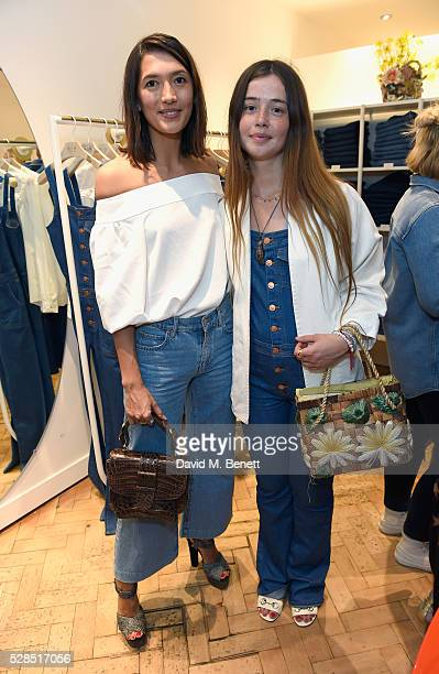 Hikari Yokoyama and Flo Morrissey attend Mih Jeans' 10th Anniversary Celebration at their popup concept store on Upper James Street on May 5 2016 in...
