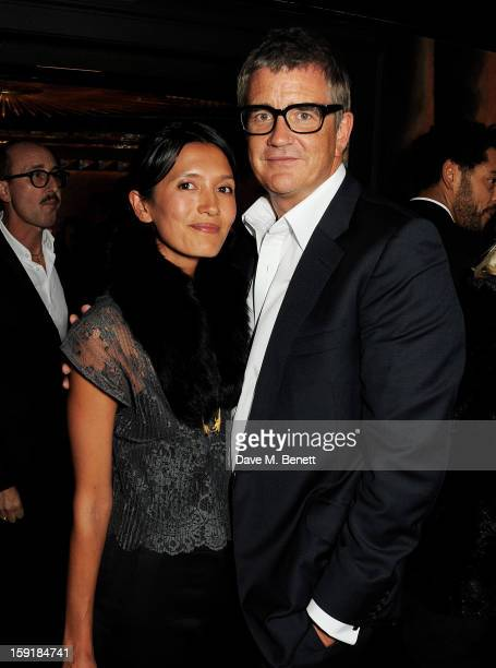 Hikari Yokoyama and Jay Jopling attend a private dinner hosted by Tom Ford to celebrate his runway show during London Collections MEN AW13 at...