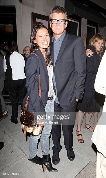 Hikari Yokoyama and Jay Jopling attend as Locanda Locatelli celebrates it's 10th Anniversary on September 11 2012 in London England