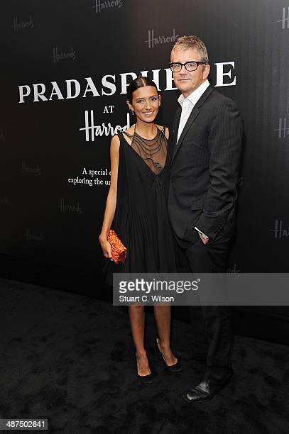 Hikari Yokoyama and Jay Jopling attends PRADASPHERE at Harrods on April 30 2014 in London England