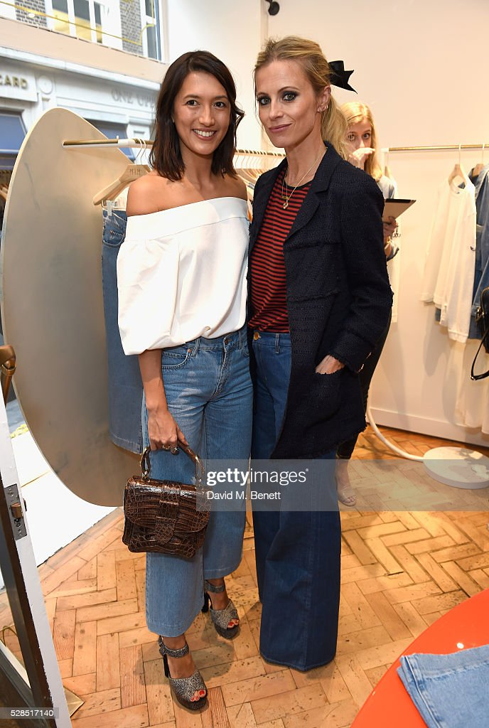 Hikari Yokoyama and Laura Bailey attend Mih Jeans' 10th Anniversary Celebration at their popup concept store on Upper James Street on May 5 2016 in...