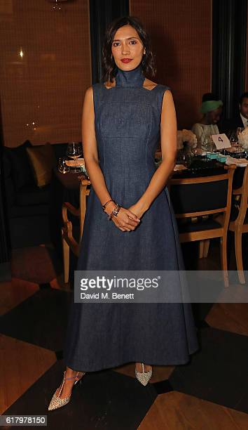 Hikari Yokoyama attends a private dinner hosted by Hikari Yokoyama to celebrate the Harper's Bazaar charity auction with Paddle8 in aid of Women For...