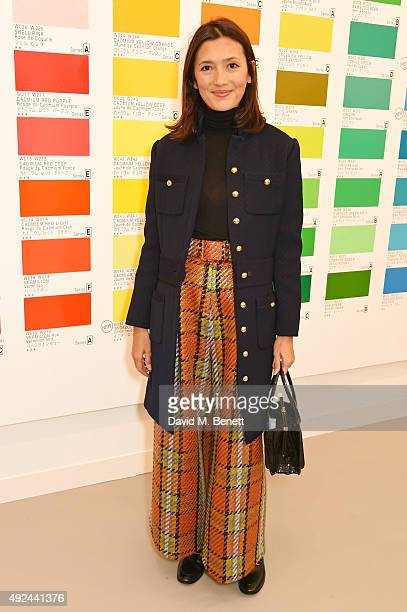 Hikari Yokoyama attends a VIP preview of the Frieze Art Fair 2015 in Regent's Park on October 13 2015 in London England