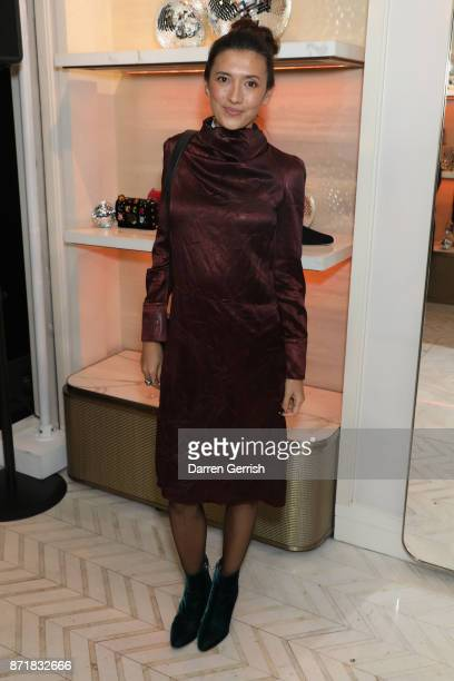 Hikari Yokoyama attends Jimmy Choo X Annabel's party hosted by Pierre Denis CEO and Derek Blasberg at 27 New Bond Street on November 8 2017 in London...