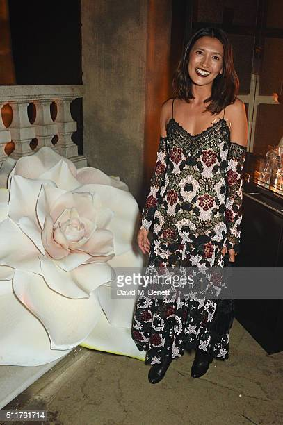 Hikari Yokoyama attends the Erdem x Selfridges LFW Afterpary at the Old Selfridges Hotel on February 22 2016 in London England