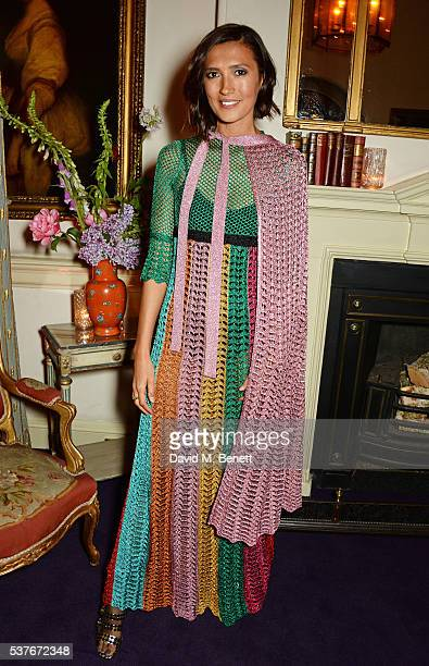 Hikari Yokoyama attends the Gucci party at 106 Piccadilly in celebration of the Gucci Cruise 2017 fashion show on June 2 2016 in London England