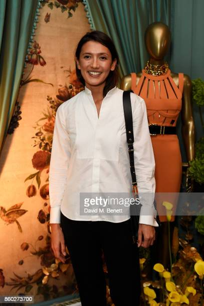Hikari Yokoyama attends the William Vintage x Farfetch Gianni Versace archive launch dinner at The Dorchester on October 11 2017 in London England