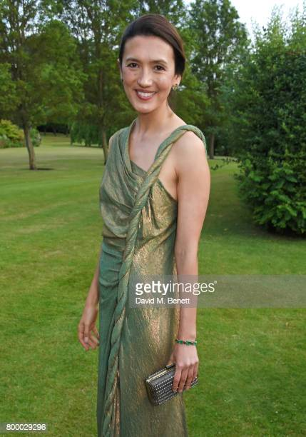Hikari Yokoyama attends the Woodside Gallery Dinner in benefit of Elton John AIDS Foundation in partnership with BVLGARI at Woodside on June 22 2017...