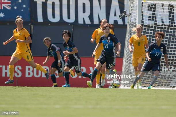 Hikaru Kitagawa of Japan during the Tournament of Nationals soccer match between Japan and Australia on July 30 2017 at Qualcomm Stadium in San Diego...