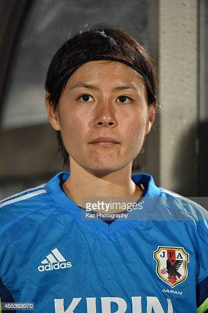Hikaru Naomoto of Japan during the women's international friendly match between Japan and Ghana at ND Soft Stadium on September 13 2014 in Yamagata...