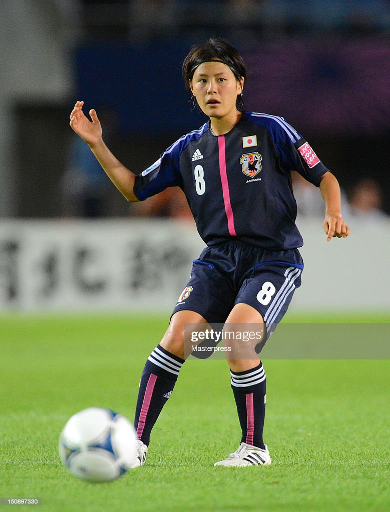 Hikaru Naomoto of Japan in action during the FIFA U-20 Women's World Cup Group A match between Japan and Mexico at Miyagi Stadium on August 19, 2012 in Rifu, Miyagi, Japan.