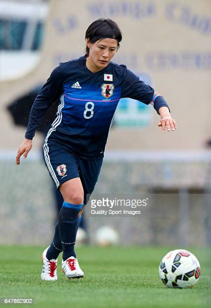 Hikaru Naomoto of Japan in action during the international friendly match between Japan Women U23 and Norway Women U23 at La Manga Club on March 4...