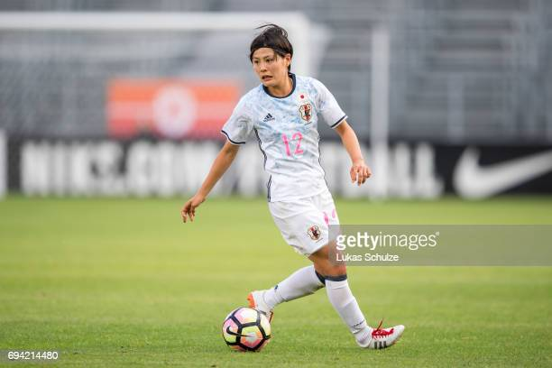 Hikaru Naomoto of Japan in action during the Women's International Friendly match between Netherlands and Japan at Rat Verlegh Stadion on June 9 2017...