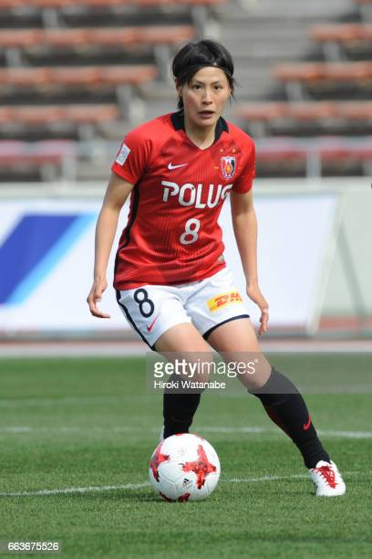 Hikaru Naomoto of Urawa Red Diamonds in action during the Nadeshiko League match between Urawa Red Diamonds Ladies and JEF United Chiba Ladies at...