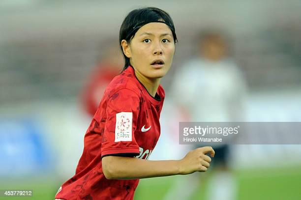 Hikaru Naomoto of Urawa Reds in action during the Nadeshiko League match between Urawa Red Diamonds Ladies and INAC Kobe Leonessa at Komaba Stadium...