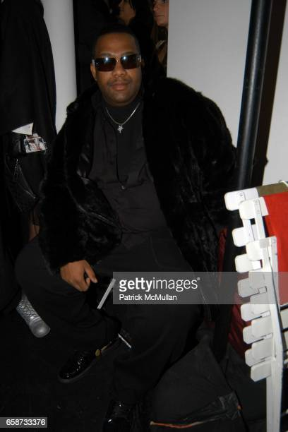 Hike Brewster attends the front row at Diane von Furstenberg Fashion Show at DVF Studios on February 8 2004 in New York City