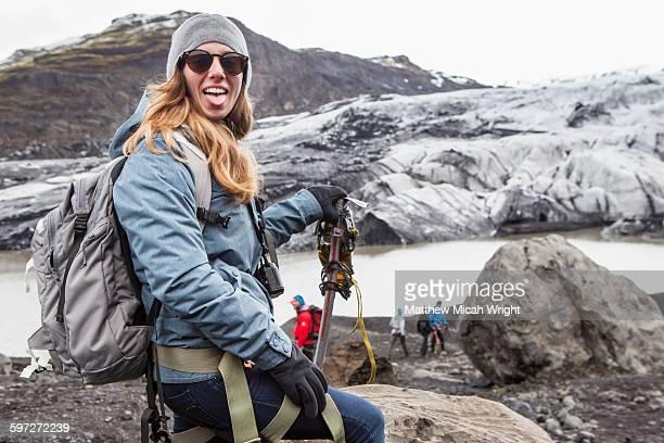 A hike on the Solheimajokull glacier