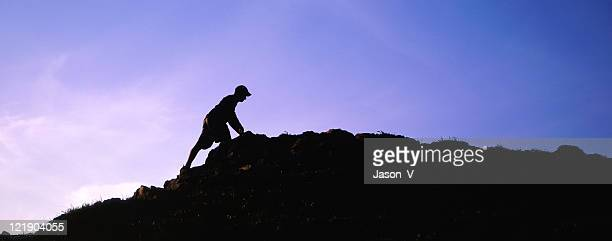 Hiker at top of Mountain 2