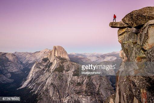 Hiker in Yosemite National Park, California, USA : Stock Photo