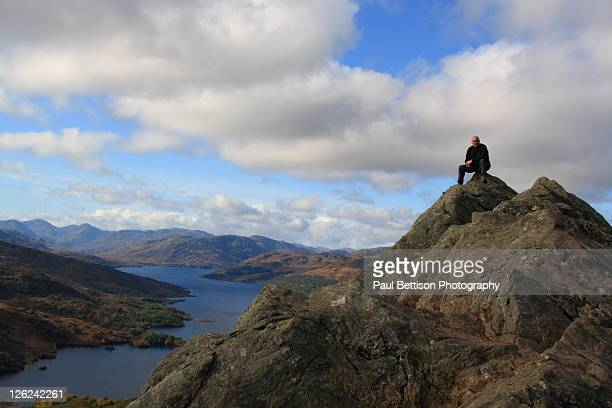 Hiker on peak of Ben'An