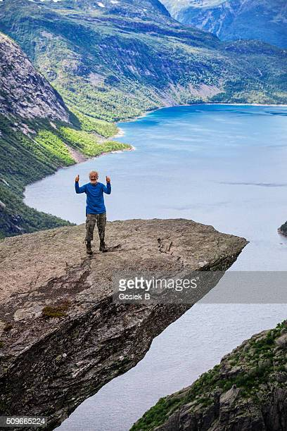 Hiker on Trolltunga