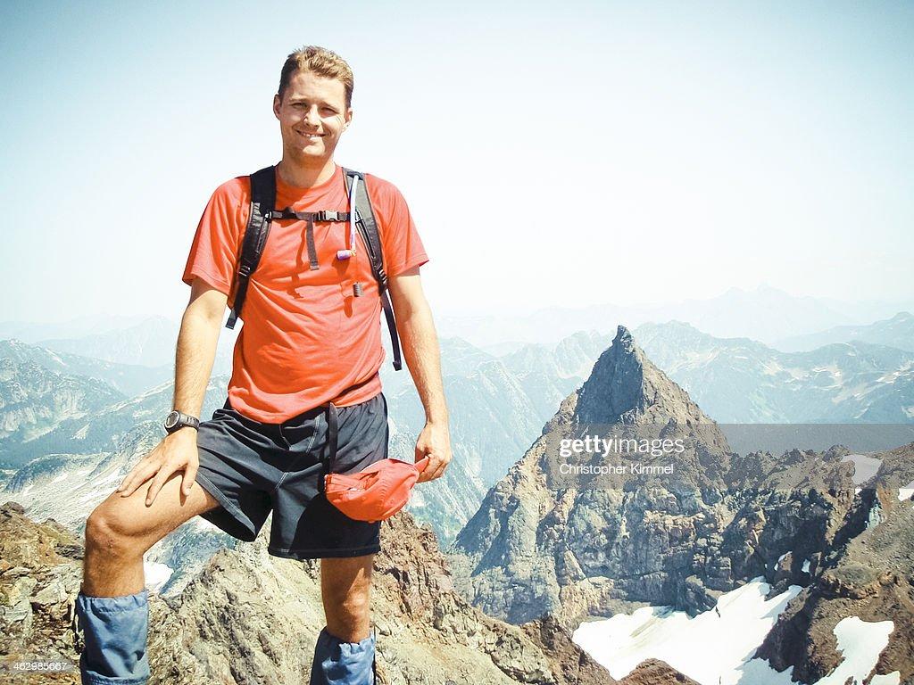 Hiker on Welch Peak