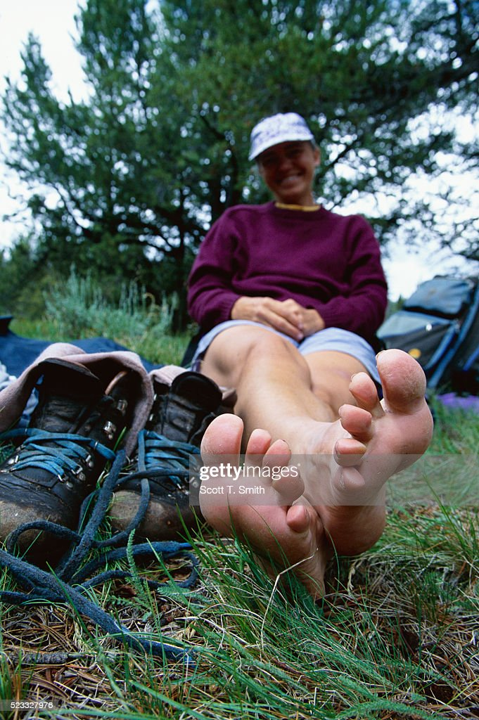 Hiker Resting at Sawtooth National Recreation Area