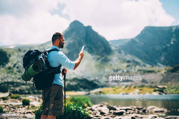 Hiker taking a picture