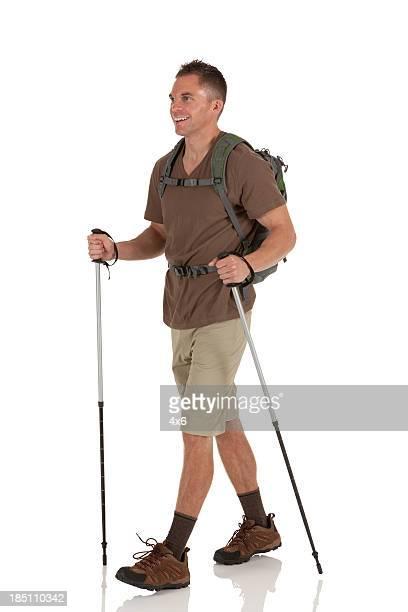 Randonnée avec des bâtons de randonnée