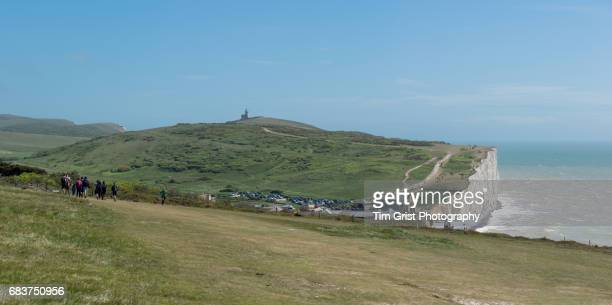 Hikers at Birling Gap and Belle Tout
