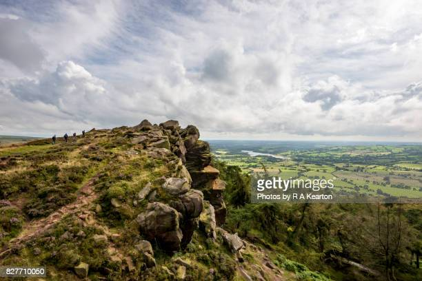 Hikers at The Roaches, Staffordshire, Peak District, England