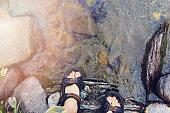 Hikers foot