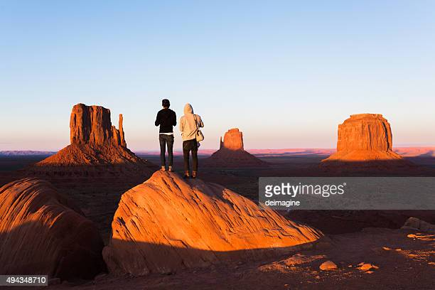 Hikers in the Monument Valley