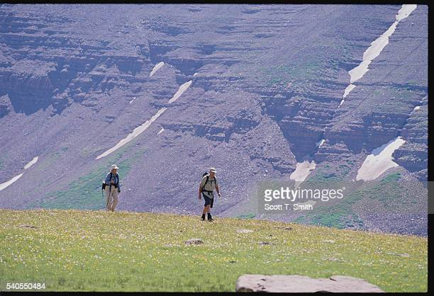 Hikers in the Uinta Mountains