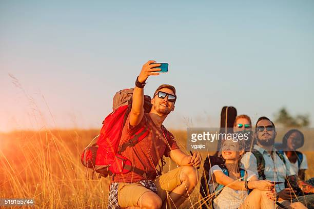 Les randonneurs en Selfie.