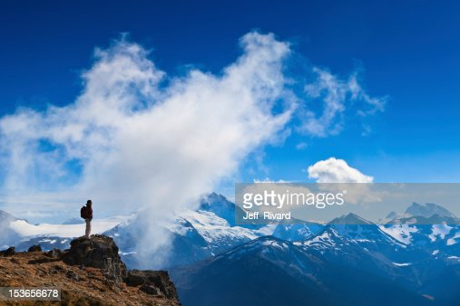 Hiker's mission accomplished : Stock Photo