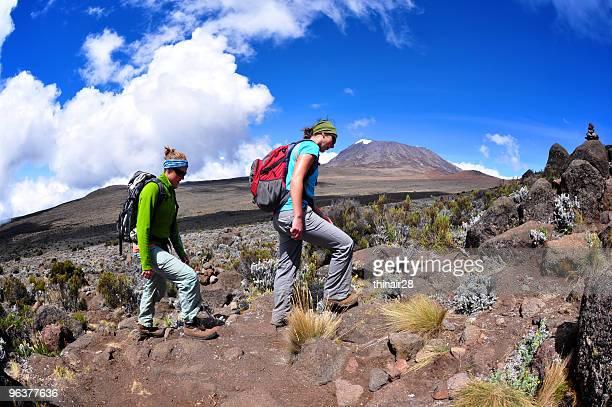 Hikers on Kilimanjaro