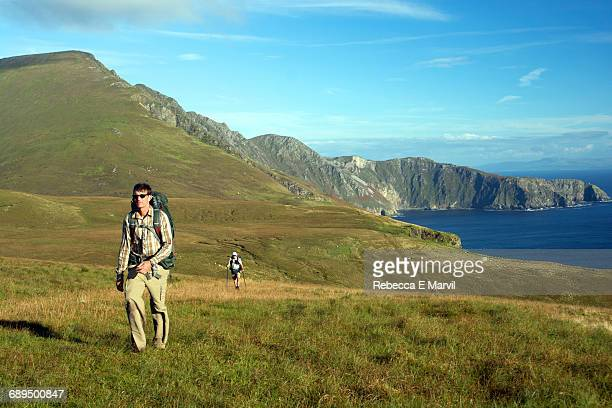 Hikers on Slieve League, Donegal, Ireland