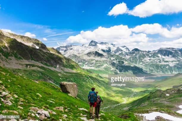 Wanderer auf Berg