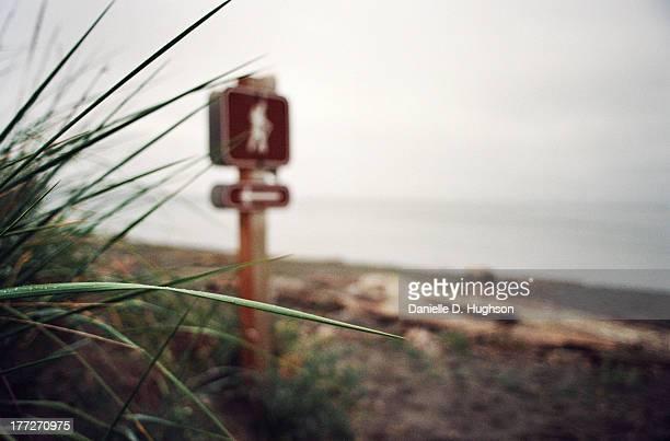 Hiker's Sign On Beach