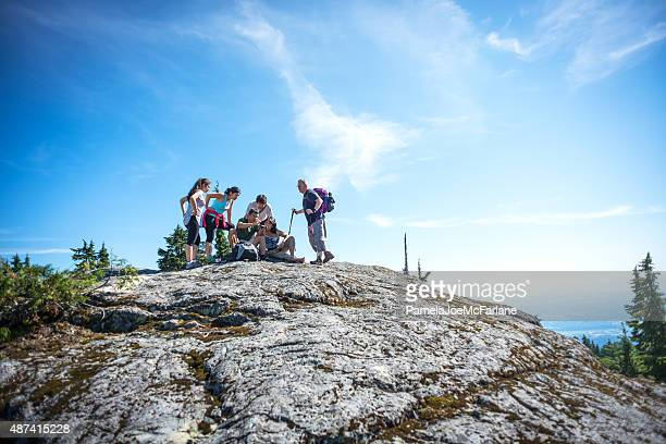 Hikers Using Mapping Application on Smart Phone to Determine Location